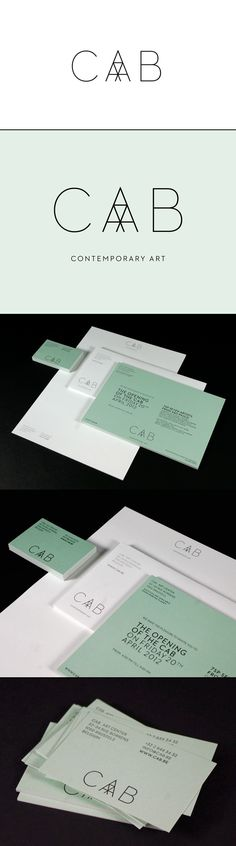 Cab Gallery and Art Center Logo Design and Stationary.