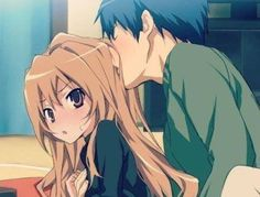 Taiga and Ryuuji from Toradora (so cute!)