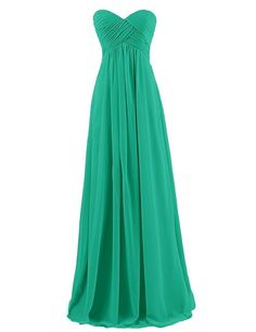 QueenBridal Sweetheart Pleat Floor-length Chiffon Bridesmaid Dress -- Hurry! Check out this great product : Bridesmaid Dresses