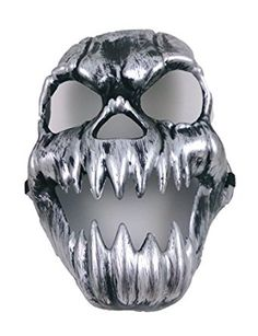 | Skull Horror Pvc Party Mask Halloween for Pranks Scary Trick-or-Treat…
