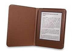 Gecko Amazon Kindle 6/7 Housse Étui Luxe – Brun – avec auto 'wake-up/sleep'fonction/taillé sur mesure en brun: Fonction réveil/sommeil…