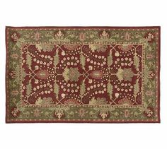 Pottery Barn 8x10 Brandon Floral Persian Wool Area Rug