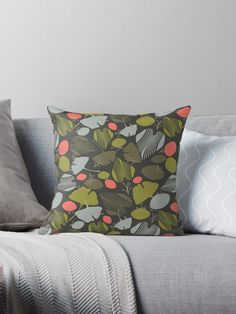 'Ginkgo Inspired' Throw Pillow by Amanda D-Hay Throw Blanket, Pillows, Pillow Design, Throw Pillows, Floor Pillows, Inspiration, Hays, Duvet Covers, Prints