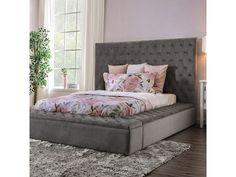 All Furniture - Furniture Market - Austin, TX Tuffed Bed, Tufted Bed Frame, Upholstered Platform Bed, Upholstered Beds, Bedding Master Bedroom, Room Ideas Bedroom, Grey Bedding, Bedroom Decor, Teen Bedroom