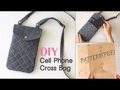 Diy Mobile Pouches, Diy Phone Pouches, Cell Phone Pouch, Diy Phone Bag, Pochette Portable, Diy Pochette, Diy Sac, Pouch Pattern, Diy Purse