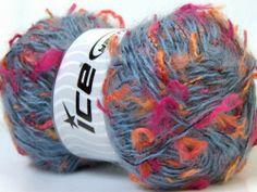 Lot of 4 x 100gr Skeins ICE MOHAIR TRAWL (45% Mohair) Wool Light Blue Orange Sal | eBay