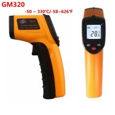 Non-contact Digital Nhiệt Kế Hồng Ngoại Laser Nhiệt Độ-50 ~ 380C Độ-58 ~ 626F GM320 đo LCD đèn nền hot bề mặt