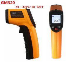Sin Contacto Termómetro Infrarrojo Digital Laser de la Temperatura-50 ~ 380C Grado-58 ~ 626F medición LCD GM320 luz de fondo superficie caliente