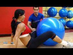 Ejercicio de Piernas y Glúteos con Fit ball - YouTube