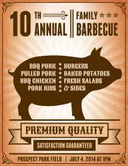 4th of July Barbecue Party royalty free vector postcard vector art illustration