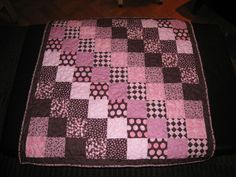 little girl quilt patterns   Quilts: Pink and Brown Baby Quilt