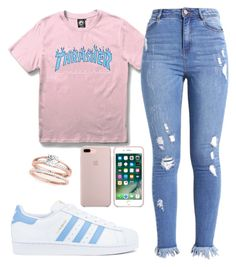 """""""TEEN HEARTTHROB"""" by kaybeenlit on Polyvore featuring WithChic and adidas"""
