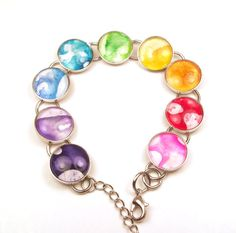 Melted Crayon Bracelet Color Wheel Rainbow by InstinctivelyIndie, $29.75