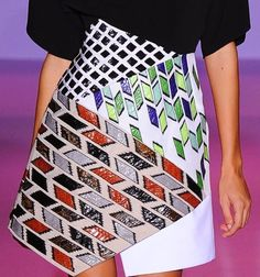 patternprints journal: PRINTS, PATTERNS AND SURFACE EFFECTS: BEAUTIFUL DETAILS FROM PARIS FASHION WEEK (WOMAN COLLECTIONS SPRING/SUMMER 2015) / Andrew Gn