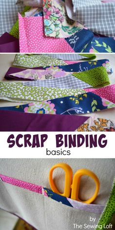 Who loves doing this?! Turn leftover fabric scraps into quilt binding. How to make scrap binding. The Sewing Loft