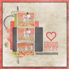 Love Grows Here TEMPLATE: 113275 By Cassie Balser 12 x 12 Scrap Page Celebrate your love for family with this beautiful scrap page.