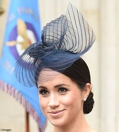 Meghan Duchess of Sussex at the Queen's RAF Service on 10th July 2018.