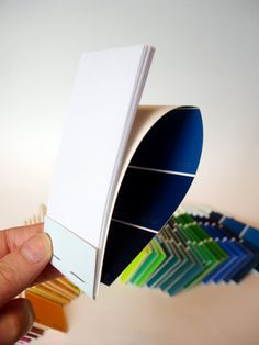 paint chip notepad