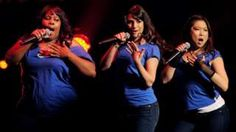 Amber Riley, Lea Michele and Jenna Ushkowitz of Fox TV's Glee
