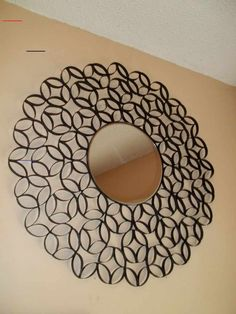 Toilet Paper Roll Wall Art Decor - #toiletpaperrolldecor - That's right toilet paper roll wall art decor! I found this project on Pinterest of course and had to try it, it cost me a total of $2.47 plus a can a spray paint and glue sticks I had laying…...