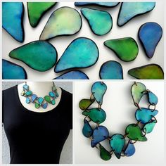 by Anarina Anar polymer jewelry necklace More