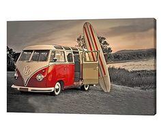 Canvas print Surfer Van, multicolour, 40 x 60 cm