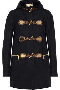 MICHAEL Michael Kors Hooded wool-blend duffle coat   NET-A-PORTER