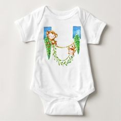 Monkey Baby Baby Bodysuit - birthday gifts party celebration custom gift ideas diy