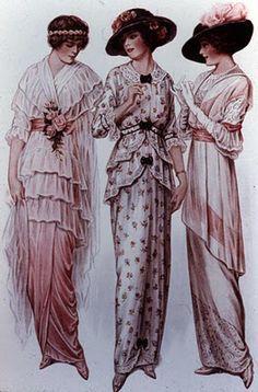 Século XIX -  Moda na Belle Époque .