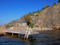 Brygga - Jetty on Hasselkobben near Sandhamn Jetty is built by Red Mount AB for www.sjoliv.se client. Stockholm Archipelago. janis@redmount.se +46700534688