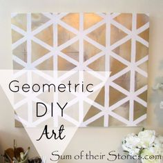DIY Canvas Painting Ideas - Geometric DIY art - Cool and Easy Wall Art Ideas You Can Make On A Budget - Creative Arts and Crafts Ideas for Adults and Teens - Awesome Art for Living Room, Bedroom, Dorm and Apartment Decorating http://diyjoy.com/diy-canvas-painting #artsandcraftsforadults,