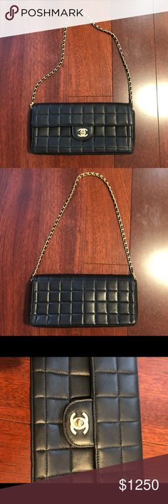 77609e5fe86d56 Authentic Chanel East West Chocolate Bar Purse Authentic vintage Chanel bag  gently used and in excellent