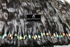 Virgin Natural Hair, Fine Cuticles. Dark colors in Natural Slight Waves