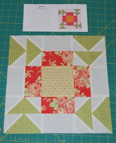 {Sisters and Quilters}: Apple Pie - Block 1 Quilt Block Patterns, Pattern Blocks, Quilt Blocks, 24 Blocks, Pattern Ideas, Free Pattern, Quilting Tutorials, Quilting Projects, Sewing Projects