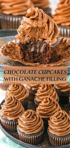 These Moist Chocolate Cupcakes are filled with a smooth chocolate ganache and topped with chocolate buttercream! They're a chocolate lover's dream and such a wonderful treat! Chocolate Buttercream, Chocolate Cupcakes, Chocolate Ganache, Chocolate Recipes, Cupcake Recipes, Cookie Recipes, Snack Recipes, Dessert Recipes, Snacks