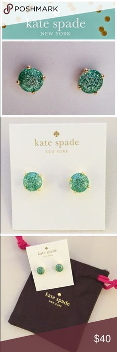 Kate spade Glitter Earrings! Super Cute Earring! Great pop of color! Close to teal blue. 3 pair available. kate spade Jewelry Earrings