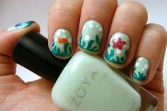 Ocean/ aquarium nails