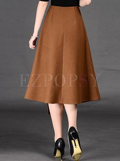 Shop for high quality Asymmetric A-Line Split Wool Skirt online at cheap prices and discover fashion at Ezpopsy.com