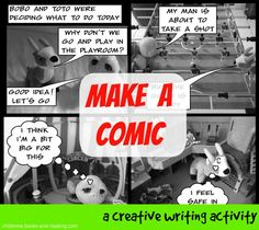 Encourage your child to get writing with this creative writing activity in which they make a comic from their own photos.