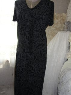 Vintage two piece black and grey maxi skirt and by SummersBreeze, $15.99