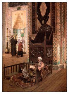 Rudolph Ernst / 14 Şubat 1854 - 1932 / Avusturya / Rüstem Paşa Camii İçi, İstanbul