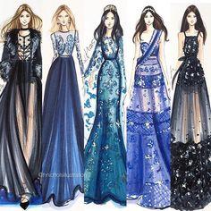 #tbt to a few @eliesaabworld sketches  #fashionillustration #fashionsketch…
