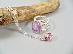 June Necklace and Ring Set June Birthstone Jewelry by babbleon, $20.00