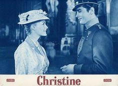 ALAIN DELON  ROMY SCHNEIDER CHRISTINE 1958 VINTAGE LOBBY CARD #1