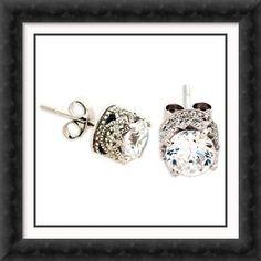 diamond earrings - Tasteful and vintage-esque. Jewelry Box, Jewelery, Diamond Earrings, Stud Earrings, Emerald Cut Diamonds, Diamond Are A Girls Best Friend, Amethyst, Fashion Jewelry, Bangles