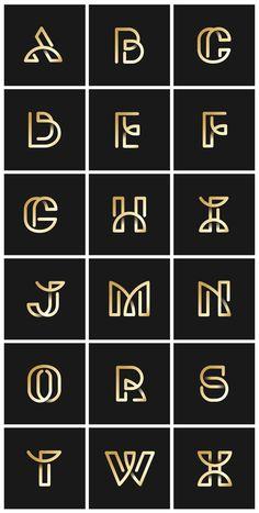 Alphabet Design, Alphabet Logo, Letter A Logo Design, Two Letter Logo, Design Letters, Lettering Design, Branding Design, Carta Logo, Inspiration Typographie