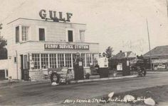 Ferry Service Station 1940's. Mackinaw City