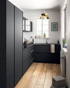 In awe with this small but beautiful black kitchen. via @istome_store #scandinavian #interior #homedecor #simplicity #whiteliving