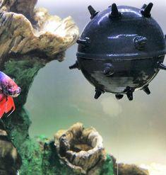 Aquarium Decoration Sea Mine Floating Aquarium Decor Fish Tank
