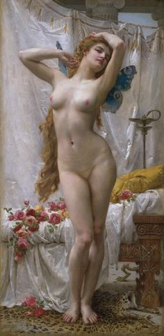 Guillaume Seignac (1870-1924) The Awakening of Psyche Oil on canvas